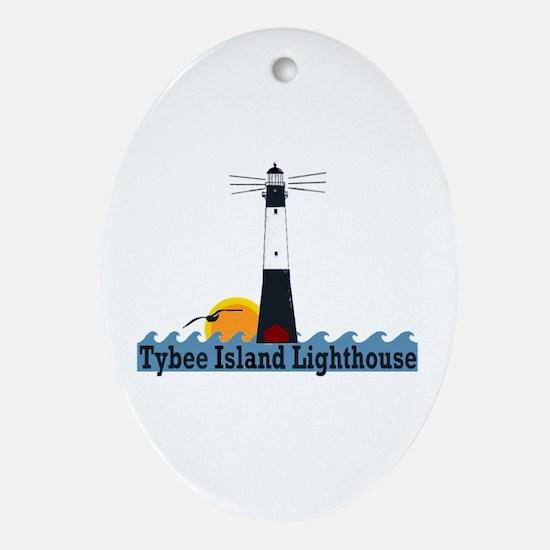 Tybee Island GA Oval Ornament