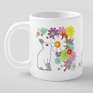 Mug flower bunny 20 oz Ceramic Mega Mug