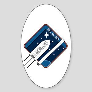 NROL-76 Mission Logo Sticker (Oval)