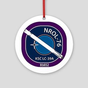 NROL-76 Launch Team Round Ornament