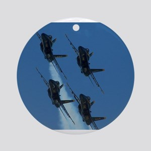 Blue Angels Diamond Ornament (Round)