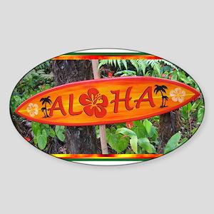 Hawaiian Oval Sticker