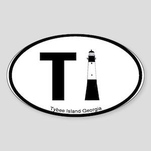Tybee Island GA Oval Sticker