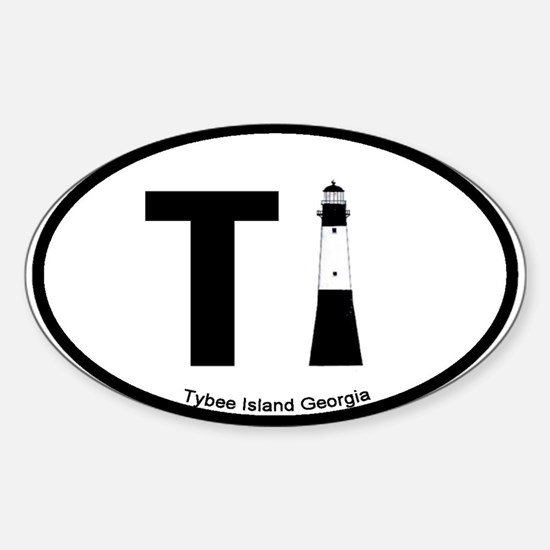 Tybee Island GA Oval Decal
