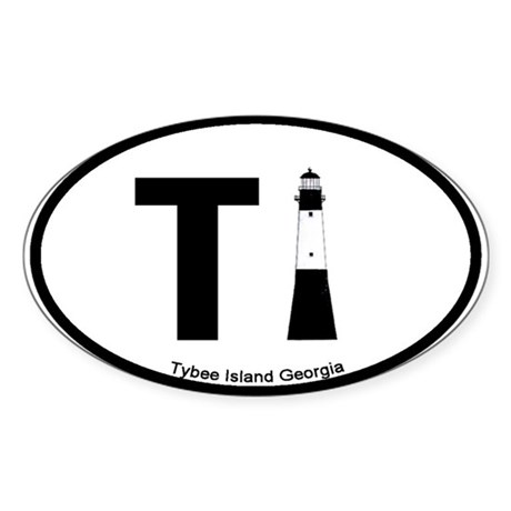 Tybee Island GA Oval Sticker
