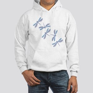 Steel Blue Dragonfly Hooded Sweatshirt