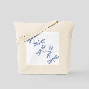Steel Blue Dragonfly Tote Bag