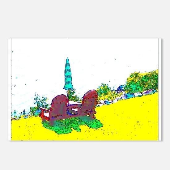 Bass Harbor Maine Christinas chairs Postcards (Pac