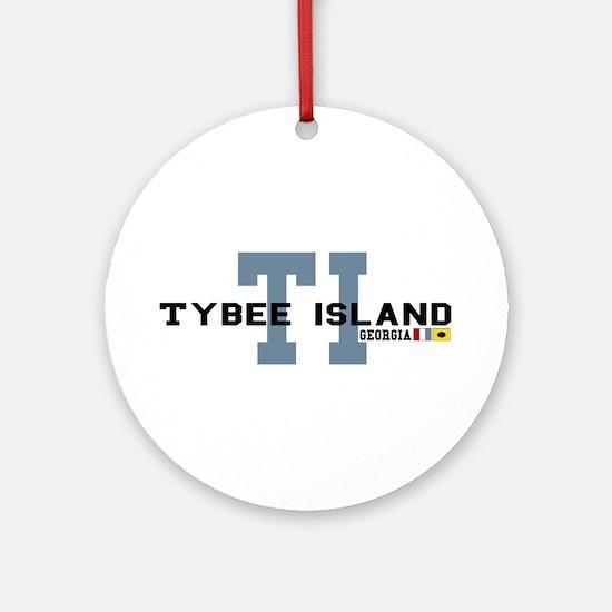 Tybee Island GA Ornament (Round)