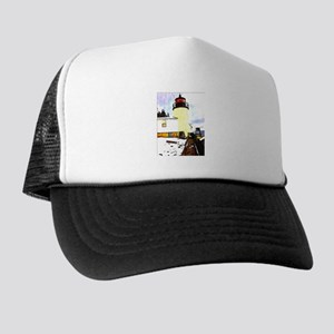 Bass Head Lighthouse Bass Harbor Maine Trucker Hat