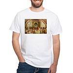 Raphael School of Athens White T-Shirt
