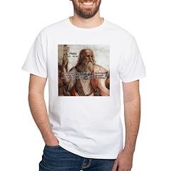 Music and Plato White T-Shirt