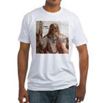 Music and Plato Fitted T-Shirt