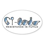 CI-Borg Resistance Oval Sticker (10 pk)