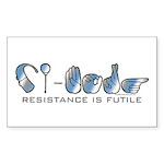 CI-Borg Resistance Rectangle Sticker 10 pk)