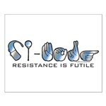 CI-Borg Resistance Small Poster