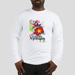 Flower Vietnam Long Sleeve T-Shirt