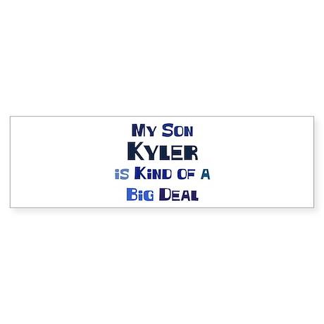 My Son Kyler Bumper Sticker