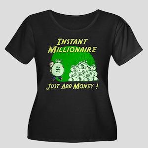 INSTANT MILLIONAIRE Women's Plus Size Scoop Neck D