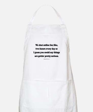 We're pretty serious ~  BBQ Apron