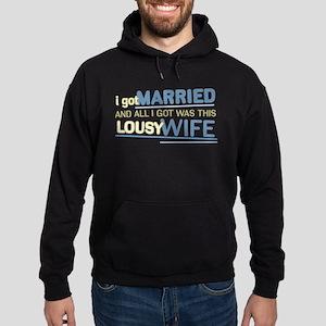 Lousy Wife Hoodie (dark)