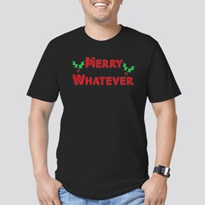 Merry Whatever Men's Fitted T-Shirt (dark)