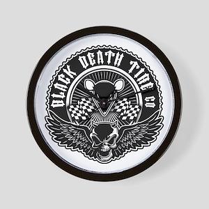 Black Death Tire Co Wall Clock