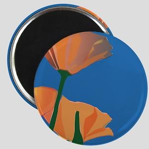 Orange Poppies Magnet