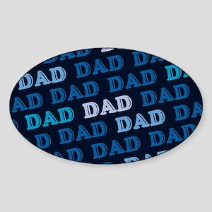 Dad Oval Sticker