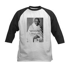 Loyalty to Cause: Gandhi Kids Baseball Jersey
