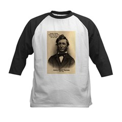 Henry David Thoreau Kids Baseball Jersey