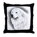 Great Pyrenees HeadstudyThrow Pillow