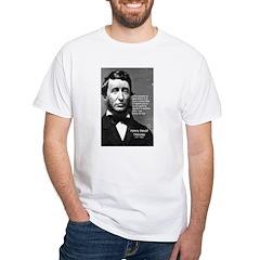 Philosophy / Nature: Thoreau White T-Shirt