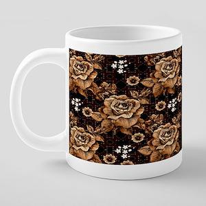 Copper Roses 20 oz Ceramic Mega Mug