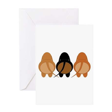Doxie Butts (Mix) Greeting Card