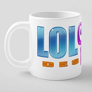 LOL-e-POP Logo 20 oz Ceramic Mega Mug