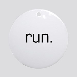 Run Ornament (Round)