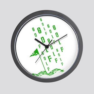 Golf, On the Green Wall Clock