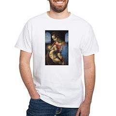 Woman and Child: Da Vinci White T-Shirt