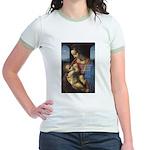 Woman and Child: Da Vinci Jr. Ringer T-Shirt