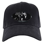 Famous Quote from JFK Black Cap