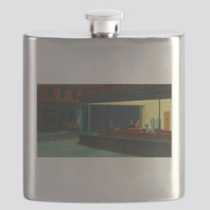 Nighthawks - Edward Hopper Flask