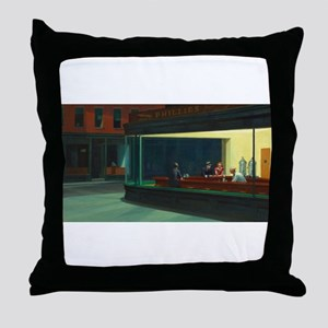 Nighthawks - Edward Hopper Throw Pillow