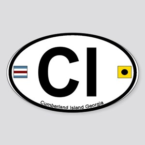 Cumberland Island GA - Oval Design. Sticker (Oval)
