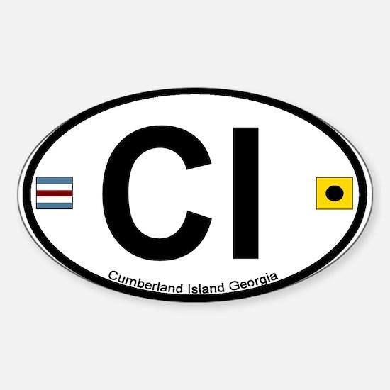 Cumberland Island GA - Oval Design. Sticker (Oval)