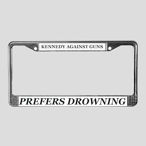 Kennedy Against Guns License Plate Frame