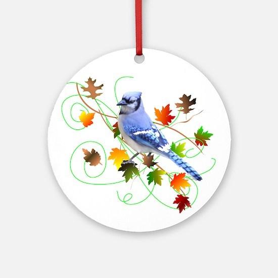 Blue Jay Ornament (Round)