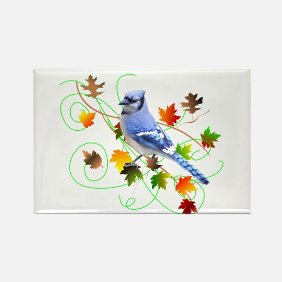 Blue Jay Rectangle Magnet (100 pack)