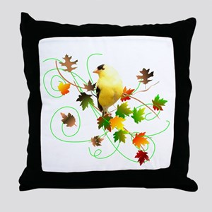 Goldfinch Throw Pillow