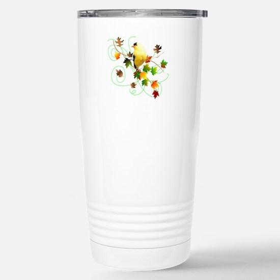 Goldfinch Stainless Steel Travel Mug